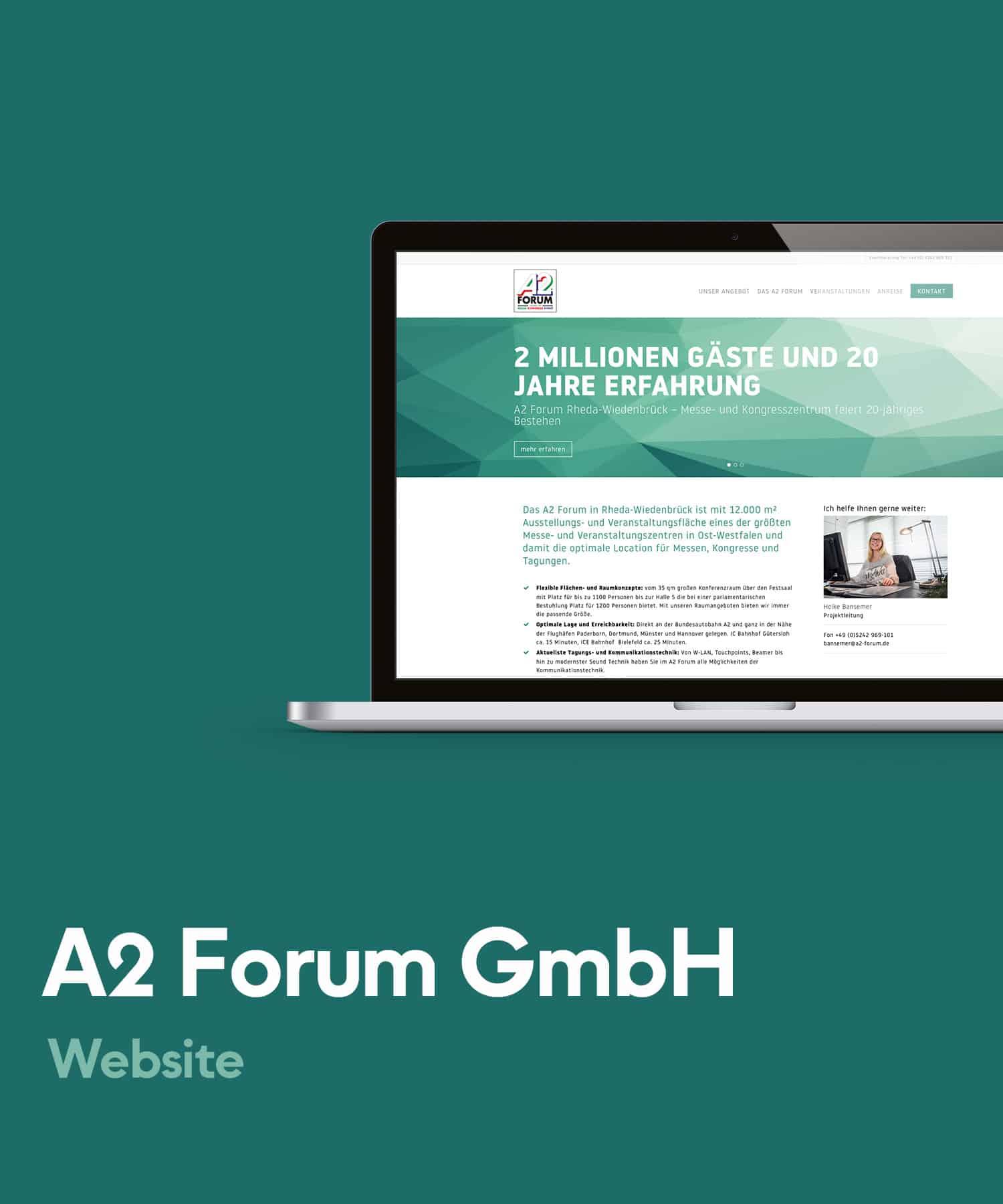 A2 Forum Management GmbH - Website Entwicklung