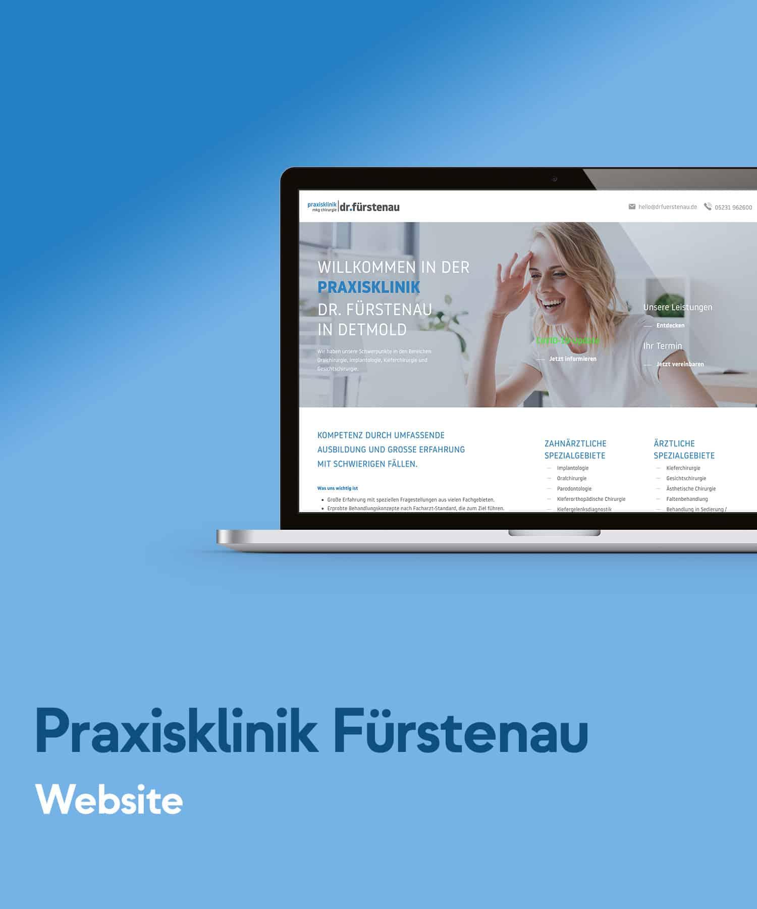 Praxisklinik Dr. Fürstenau - Website Entwicklung